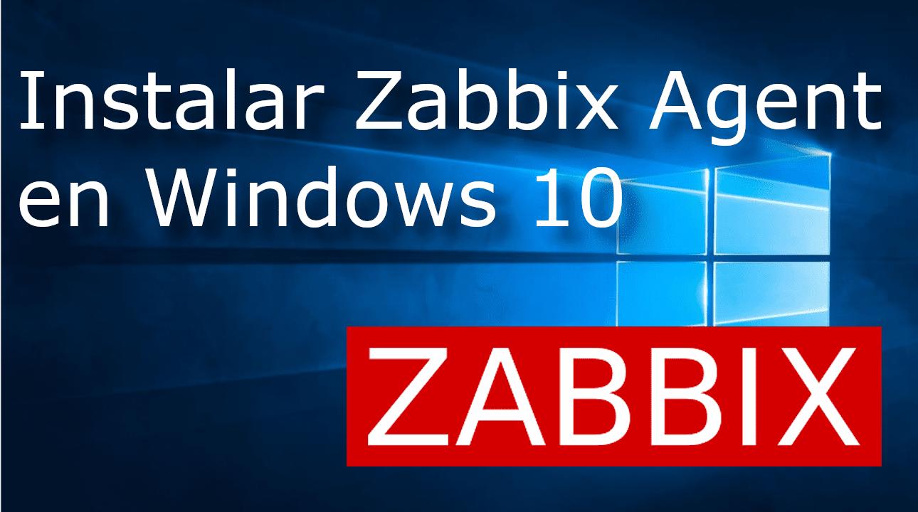Monitorear windows con zabbix agent ?