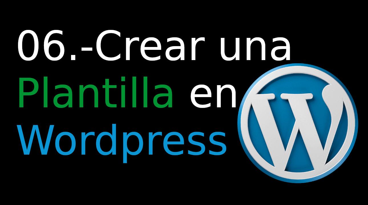 06.- Crear una Plantilla en WordPress [page.php]