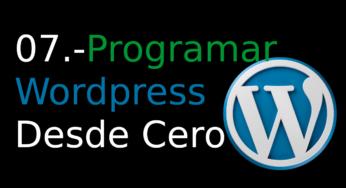 07.-Programar WordPress desde cero [admin_menu]