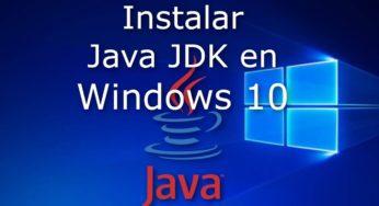 Instalar Java ☕ JDK en Windows 10 ⚡️