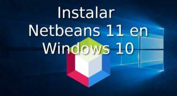 Instalar Netbeans 11 en Windows 10