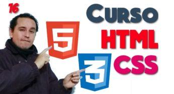 16- HTML y CSS de 0 a 100 [Menu awsomefont]?