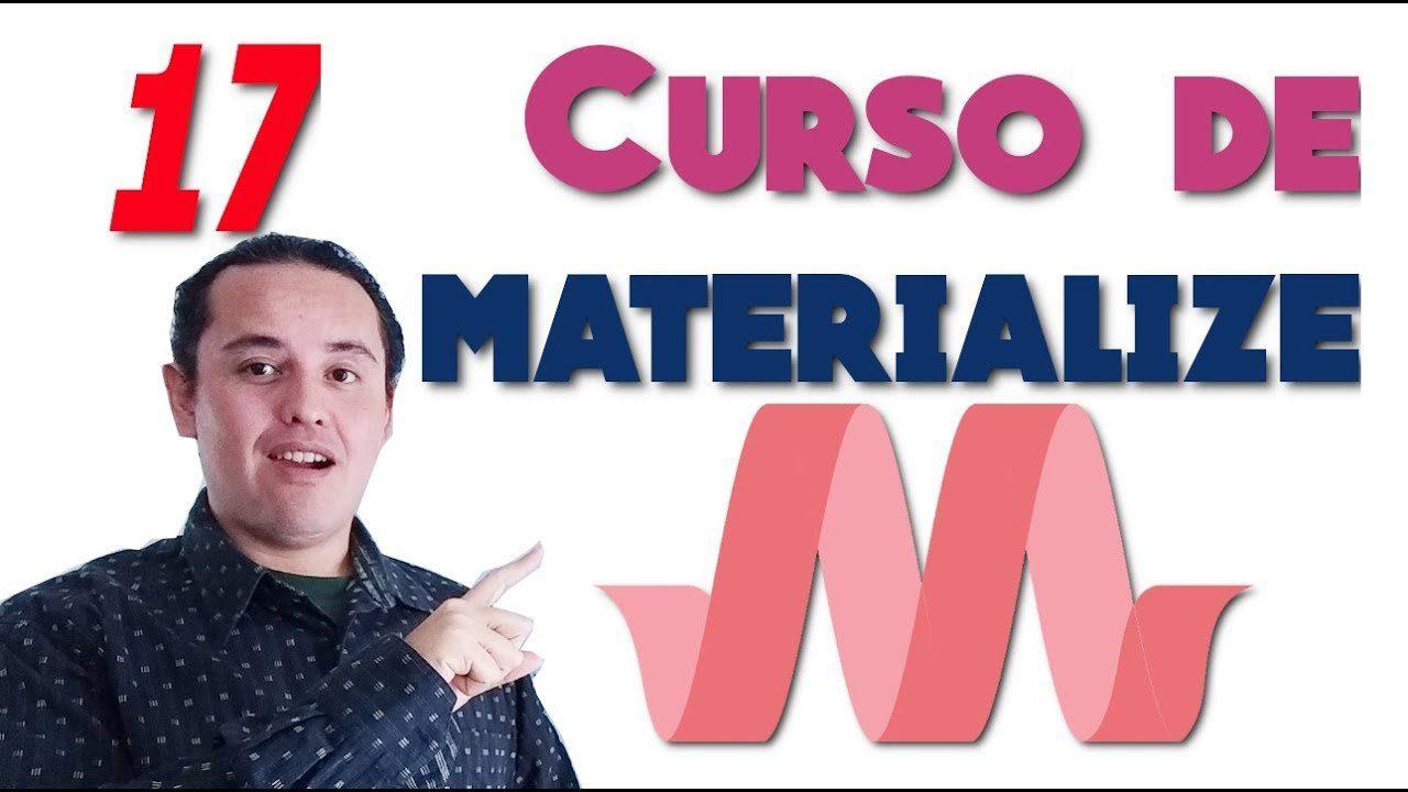 Materialize CSS? [17.- Formularios]